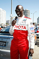LOS ANGELES - APR 5: Djimon Hounsou at the 35th annual Toyota Pro/Celebrity Race Press Practice Day on April 5, 2011 in Long Beach, California