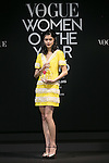 Fashion model Rina Fukushi poses for the cameras during the Vogue Japan Women of the Year 2016 Awards on November 24, 2016, Tokyo, Japan. Every year the fashion magazine awards successful women from various disciplines. This year Tokyo's first female Governor Yuriko Koike sent a video message in gratitude for her inclusion on the awards list. (Photo by Rodrigo Reyes Marin/AFLO)