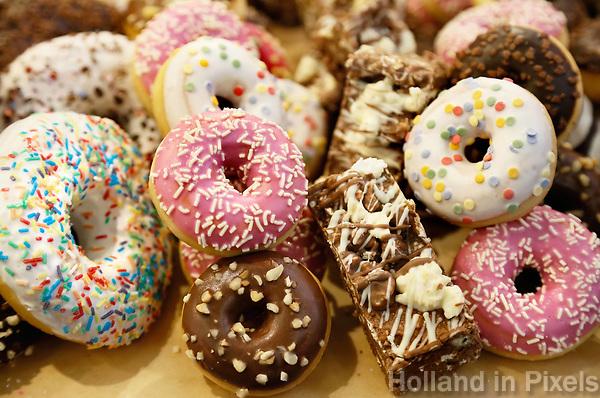 Nederland - Amsterdam - Januari 2019. Zoete donuts.  Foto Berlinda van Dam / Hollandse Hoogte