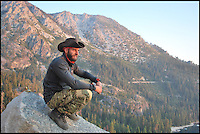 BNPS.co.uk (01202 558833)<br /> Pic: TimelessDeception/BNPS<br /> <br /> August 2016 after leaving the services - road trip across America, Lake Taho, Nevada.<br /> <br /> A hardened medic in the Special Boat Service has made a drastic career change - after starting out as a professional magician. <br /> <br /> Steel Johnson quit his 10 year military career after enduring two hellish tours of Iraq and Afghanistan.<br /> <br /> The 32-year-old is now fulfilling his childhood dream of performing magic full-time. <br /> <br /> Steel, whose real name is James, has practiced sleight of hand tricks since the age of nine.