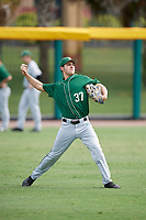 Dartmouth Big Green Jordan Bustabad (37) during practice before a game against the USF Bulls on March 17, 2019 at USF Baseball Stadium in Tampa, Florida.  USF defeated Dartmouth 4-1.  (Mike Janes/Four Seam Images)