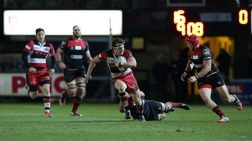 Edinburgh's Hamish Watson<br /> <br /> Photographer Stephen White/CameraSport<br /> <br /> Rugby Union - Guinness PRO12 - Newport Gwent Dragons v Edinburgh - Friday 8th May 2015 - Rodney Parade - Newport<br /> <br /> &copy; CameraSport - 43 Linden Ave. Countesthorpe. Leicester. England. LE8 5PG - Tel: +44 (0) 116 277 4147 - admin@camerasport.com - www.camerasport.com