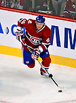 15 October 2009: Montreal Canadiens' right wing forward Andrei Kostitsyn starts a rush from his end against the Colorado Avalanche at the Bell Centre in Montreal, Quebec, Canada. The Avalanche defeated the Canadiens 3-2 in the home opening game for the Habs. Mandatory Credit: Ed Wolfstein Photo