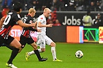 06.10.2019, Commerzbankarena, Frankfurt, GER, 1. FBL, Eintracht Frankfurt vs. SV Werder Bremen, <br /> <br /> DFL REGULATIONS PROHIBIT ANY USE OF PHOTOGRAPHS AS IMAGE SEQUENCES AND/OR QUASI-VIDEO.<br /> <br /> im Bild: Sebastian Rode (Eintracht Frankfurt #17), Davy Klaassen (SV Werder Bremen #30)<br /> <br /> Foto © nordphoto / Fabisch