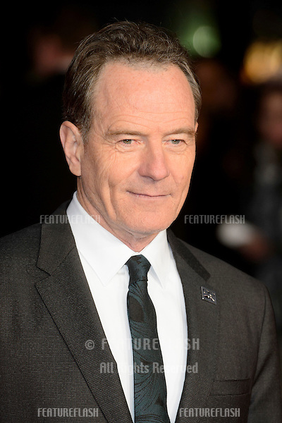 Bryan Cranston at the premiere of &quot;Trumbo&quot;, as part of the London Film Festival 2015, at the Odeon Leicester Square, London.<br /> October 8, 2015  London, UK<br /> Picture: Dave Norton / Featureflash