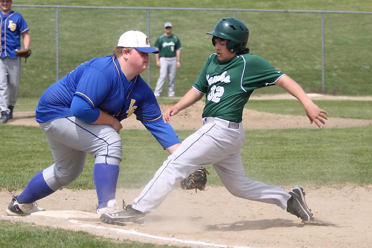 Photograph from the 2010 inaugural Mt. Rainier Lutheran High School baseball season.