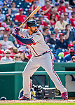 8 July 2017: Atlanta Braves outfielder Matt Kemp in action against the Washington Nationals at Nationals Park in Washington, DC. The Braves shut out the Nationals 13-0 to take the third game of their 4-game series. Mandatory Credit: Ed Wolfstein Photo *** RAW (NEF) Image File Available ***
