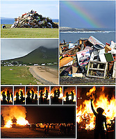 Bonfire night on St. John's Eve, June 23rd on Achill Island. Photo: Don MacMonagle