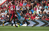 Gabriel Jesus of Manchester City scores a goal 1 1 during the Premier League match between Bournemouth and Manchester City at the Goldsands Stadium, Bournemouth, England on 26 August 2017. Photo by Andy Rowland.
