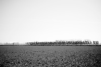 After leaving the coast, the peloton gets into the open 'Polders' where usually wind is king (but not today) and the first attacker of the day manages to escape from the pelotons grip<br /> <br /> 3 Days of West-Flanders 2015<br /> stage 2: Nieuwpoort - Ichtegem 184km