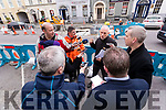 Kerry County Council Engineer Eamon Scanlon explains the progress of the Tralee Town Centre Redevelopment to Reporters.