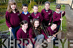 Children at Kilgarvan National School are following an environmental friendly programme and have plans to set a number of trees in the school grounds as part of their ongoing works. .Front L-R Mary Foley, Suzanna Herliczka and Gary Foley. .Back L-R Eileen O'Riordan, Tadhg and Micheal O'Donoghue, Mary Ellen McCarthy and Eva Gadsden.