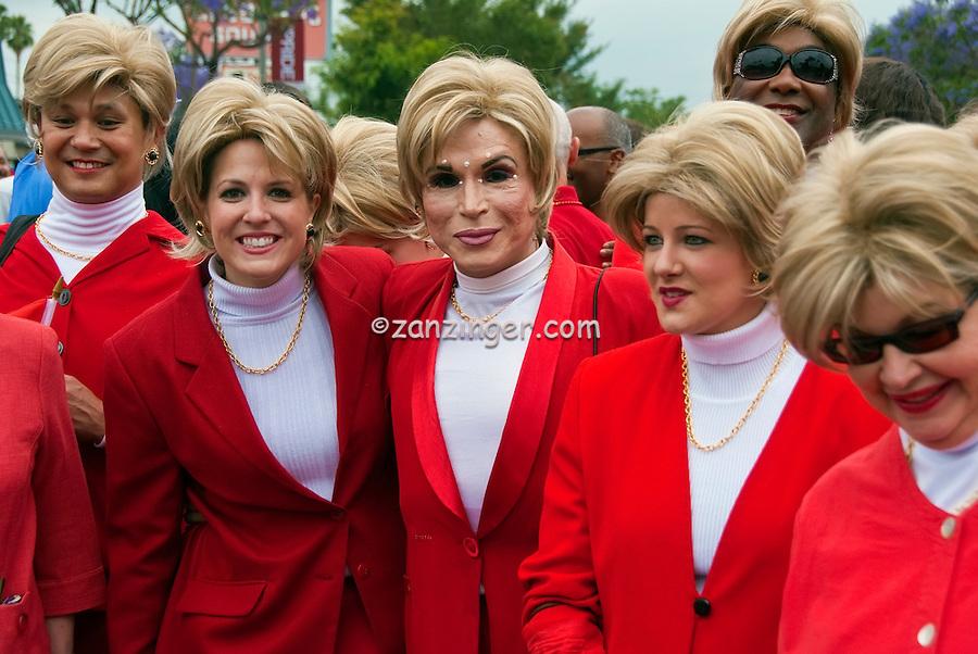 LA Pride 2011 Participants, Dressed in All Red for Gloria Allred