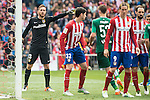 Atletico de Madrid's Jan Oblak, Nacho, Fernando Torres and Juanfran Torres and Real Betis's Fabian during BBVA La Liga match. April 02,2016. (ALTERPHOTOS/Borja B.Hojas)