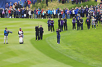 Annie Park (USA) on the 1st fairway during Day 3 Singles at the Solheim Cup 2019, Gleneagles Golf CLub, Auchterarder, Perthshire, Scotland. 15/09/2019.<br /> Picture Thos Caffrey / Golffile.ie<br /> <br /> All photo usage must carry mandatory copyright credit (© Golffile | Thos Caffrey)