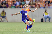 Houston, TX - Saturday Sept. 03, 2016: Camille Levin, Kealia Ohai during a regular season National Women's Soccer League (NWSL) match between the Houston Dash and the Orlando Pride at BBVA Compass Stadium.