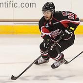 Cameron Brace (UNB - 19) - The Boston College Eagles defeated the visiting University of New Brunswick Varsity Reds 6-4 in an exhibition game on Saturday, October 4, 2014, at Kelley Rink in Conte Forum in Chestnut Hill, Massachusetts.