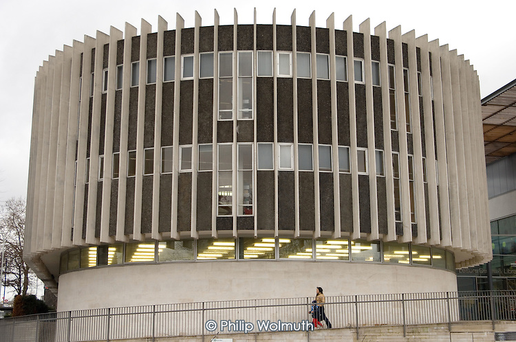 Camden Library in Swiss Cottage was designed by architect Sir Basil Spence and opened in 1964.