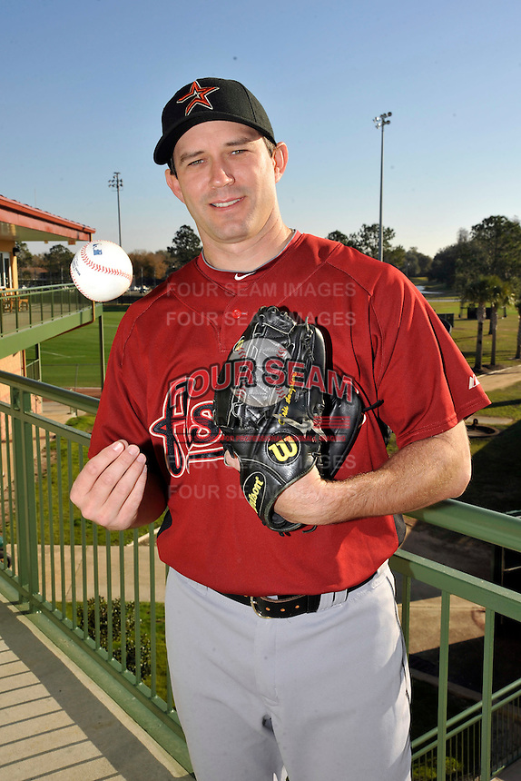 Feb 25, 2010; Kissimmee, FL, USA; The Houston Astros pitcher Chris Sampson (43) during photoday at Osceola County Stadium. Mandatory Credit: Tomasso De Rosa / Four Seam Images