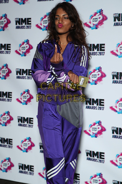 M.I.A.<br /> The VO5 NME Awards 2017 at the O2 Academy, Brixton, London on February 15th 2017<br /> CAP/GOL<br /> &copy;GOL/Capital Pictures