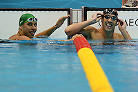 Chad Le Clos South Africa Silver Medal, Michael Phelps Usa Gold Medal Men's 100m Butterfly..London 3/8/2012 Water Polo Arena..London 2012 Olympic games - Olimpiadi Londra 2012..Swimming - Nuoto....Foto Andrea Staccioli Insidefoto