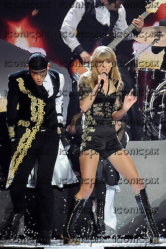 TAYLOR SWIFT - performing live at the 2013 BRIT AWARDS held at the O2 Arena in London UK - 20 Feb 2013.  Photo credit: George Chin/IconicPix