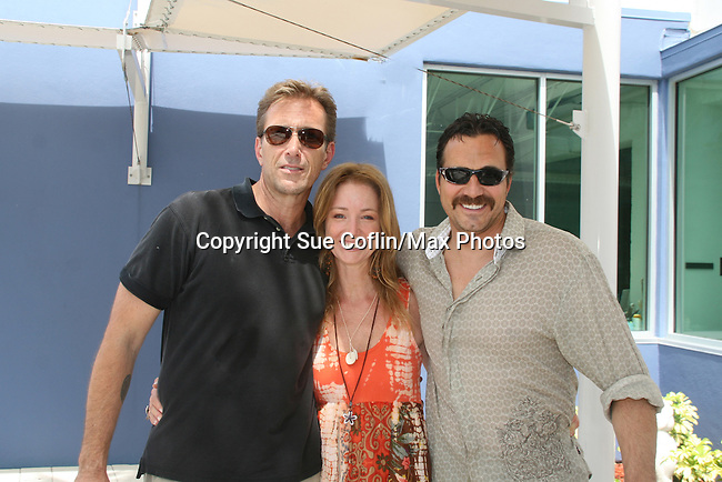 Walt Willey & Thorsten Kaye All My Children and Susan Haskell -  donate their time at the 12th Annual SoapFest - Painting Party to benefit Marco Island YMCA, theatre program & Art League of Marco Island on May 15, 2010 on Marco Island, FLA. (Photo by Sue Coflin/Max Photos)
