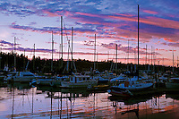 Marina in Budd Bay, Olympia, the capital city of Washington State at the southern tip of Puget Sound.