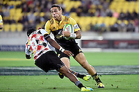 Hurricanes' TJ Perenara in action during the Super Rugby - Hurricanes v Southern Kings at Westpac Stadium, Wellington, New Zealand on Friday 25 March 2016.<br /> Photo by Masanori Udagawa. <br /> www.photowellington.photoshelter.com.
