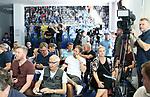 01.07.2019, Sportpark, Berlin, GER, 1.FBL, DFL,, Hertha BSC Pressekonferenz,<br /> DFL, regulations prohibit any use of photographs as image sequences and/or quasi-video<br /> im Bild Pressevertreter <br /> <br />       <br /> Foto © nordphoto / Engler