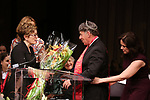 Lisa Kron, Stephen Schwartz and Georgia Stitt on stage at the The Lilly Awards  at Playwrights Horizons on May 22, 2017 in New York City.