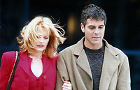 Clooney Helgenberger6015.JPG<br /> <br /> 1996 <br /> Marg Helgenberger and George Clooney<br /> Photo to By John Barrett-PHOTOlink.net/MediaPunch