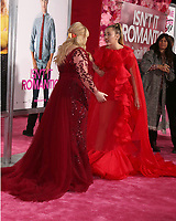 "LOS ANGELES - FEB 11:  Rebel WIlson, Miley Cyrus at the ""Isn't It Romantic"" World Premiere at the Theatre at Ace Hotel on February 11, 2019 in Los Angeles, CA"