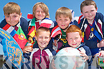 Flags R Us: 3rd class pupils of Scoil Realta na Maidne, Listowel enjoy the KDYS/KADE Multicultural Day at the school on Tuesday. Pictured front l-r: Bryan Sweeney and Michael Grimes. Back l-r: Aidan Jeffrey, Jordan Housden, Benedict Godfrey and Robert Sloan.   Copyright Kerry's Eye 2008