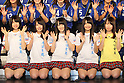 (L to R) Yui Takano, Nana Yamada, Sayaka Yamamoto, Ayaka Murakami, Reina Shimada (NMB48), .FEBRUARY 16, 2012 - Football / Soccer : Speranza FC Osaka Takatsuki Press conference at NMB48 Theater in Osaka, Japan. Japanese ladies soccer team Speranza FC Osaka Takatsuki hold a joint press conference with members of NMB48, the Osaka version of the popular AKB48 idol group. Both women's soccer and girls idol groups are hugely popular in Japan after the national team's success at the Womens Soccer World Cup and the growing success of AKB48.