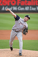 Tyler Cravy (30) of the Colorado Springs Sky Sox delivers a pitch to the plate against the Salt Lake Bees in Pacific Coast League action at Smith's Ballpark on May 22, 2015 in Salt Lake City, Utah.  (Stephen Smith/Four Seam Images)
