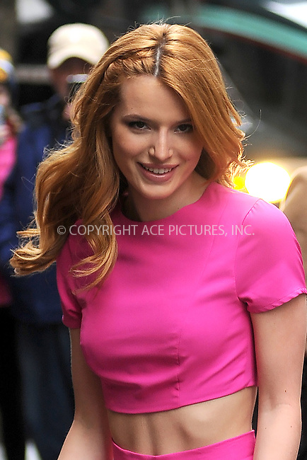 WWW.ACEPIXS.COM<br /> March 26, 2015 New York City<br /> <br /> Bella Thorne arriving to tape an appearance on 'The View' on March 26, 2015 in New York City.<br /> <br /> Please byline: Kristin Callahan/AcePictures<br /> <br /> ACEPIXS.COM<br /> <br /> Tel: (646) 769 0430<br /> e-mail: info@acepixs.com<br /> web: http://www.acepixs.com
