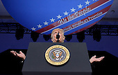 United States President Donald Trump delivers remarks to the Conservative Political Action Conference (CPAC) at National Harbor, Maryland, February 24, 2017. <br /> Credit: Olivier Douliery / Pool via CNP