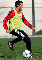 WASHINGTON, DC - February 06, 2012: Coach Ben Olsen of DC United during a pre-season practice session at Long Bridge Park, in Arlington, Virginia on February 6, 2013.