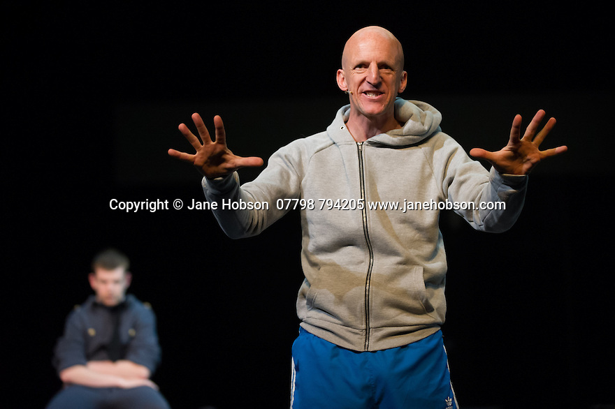 Edinburgh, UK. 09.08.2014.  GANESH VERSUS THE THIRD REICH, presented by Australian company, Back to Back Theatre, opens at the Royal Lyceum Theatre, as part of the Edinburgh International Festival. Picture shows:  Photograph © Jane Hobson.