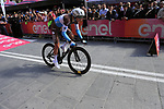 Nans Peters (FRA) AG2R La Mondiale powers off the start ramp of Stage 1 of the 2019 Giro d'Italia, an individual time trial running 8km from Bologna to the Sanctuary of San Luca, Bologna, Italy. 11th May 2019.<br /> Picture: Eoin Clarke | Cyclefile<br /> <br /> All photos usage must carry mandatory copyright credit (© Cyclefile | Eoin Clarke)