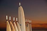 Lighted Menorrah Surfboards