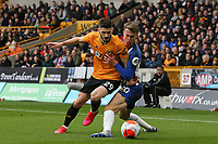 Rúben Vinagre of Wolverhampton Wanderers and Solly March of Brighton & Hove Albion during Wolverhampton Wanderers vs Brighton & Hove Albion, Premier League Football at Molineux on 7th March 2020