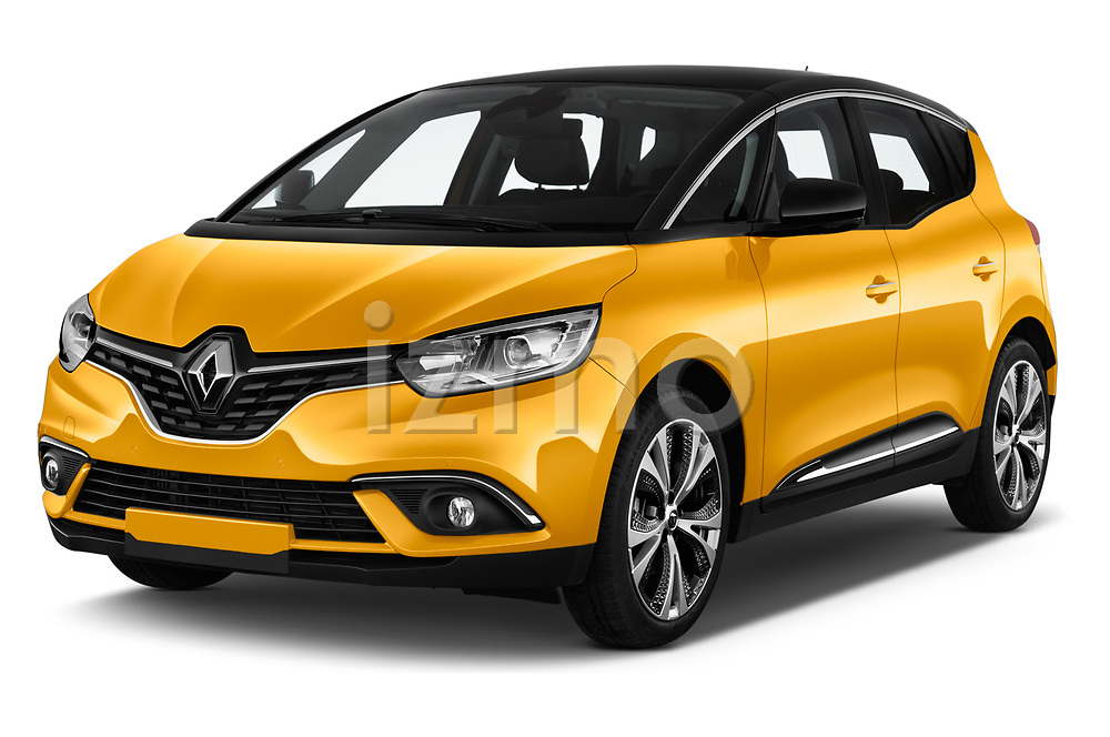 2017 Renault Scenic Intens 5 Door Minivan Angular Front stock photos of front three quarter view