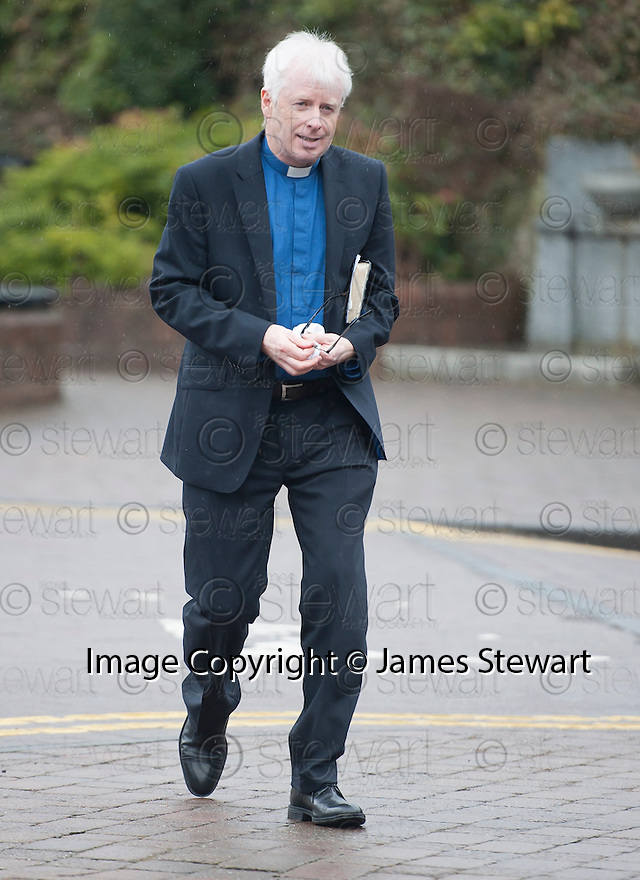 The minister arrives at the Brig O'Doon House Hotel, Alloway, for the wedding of Steven Naismith and Moya Jane Farrell.