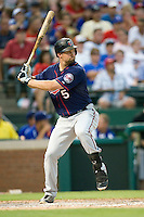 Minnesota Twins first baseman Michael Cuddyer #5 at bat during a Major League Baseball game against the Texas Rangers at the Rangers Ballpark in Arlington, Texas on July 27, 2011. Minnesota defeated Texas 7-2.  (Andrew Woolley/Four Seam Images)