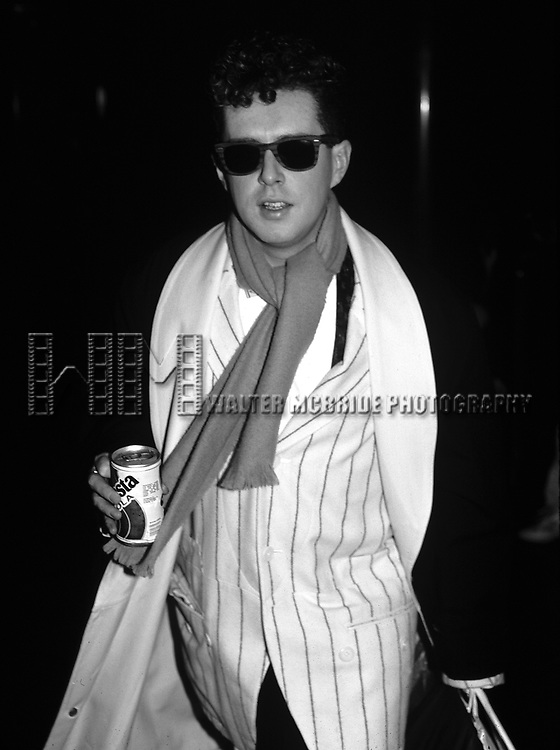 Holly Johnson of Frankie Goes to Hollywood pictured in New York City in 1984.