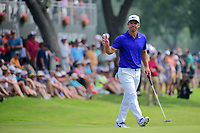 Paul Casey (GBR) after sinking his birdie putt on 18 during round 3 of the Dean &amp; Deluca Invitational, at The Colonial, Ft. Worth, Texas, USA. 5/27/2017.<br /> Picture: Golffile | Ken Murray<br /> <br /> <br /> All photo usage must carry mandatory copyright credit (&copy; Golffile | Ken Murray)