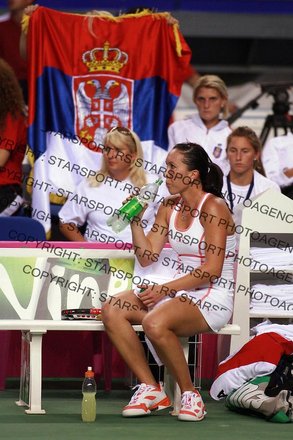 Qualification match Slovakia vs Serbia Federation Cup match in Kosice, Slovakia plej of za popunu Svetske grupe Fed kup  Slovacka Srbija Jelena Jankovic Dejan Vranes 14.7.2007. photo: Pedja Milosavljevic