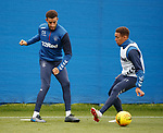 14.08.2019 Rangers training: Connor Goldson and James Tavernier